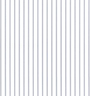 Ticking Stripe Wallpaper in Light Blue, Blue, Denim SY33929 by Norwall