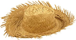 MA ONLINE Adults Beachcomber Straw Hat Mens Tropical Beach Party Fancy Dress Accessory One Size