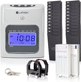 Lathem 400E-KIT Top-Feed Electronic Time Clock Bundle Kit, Includes 200 Lathem E14 Time Cards, 2 Ten Pocket Time Card Racks, 2 Ribbons and Keys (400E-KIT)