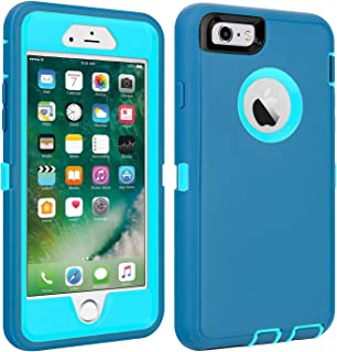 iPhone 6/6S Case Shockproof High Impact Tough Rubber Rugged Hybrid Case Silicone Triple Protective Anti-Shock Shatter-Resistant Mobile Phone Case for iPhone 6/6S4.7