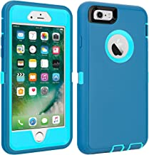 iPhone 6/6S Case Shockproof High Impact Tough Rubber Rugged Hybrid Case Silicone Triple Protective Anti-Shock Shatter-Resi...