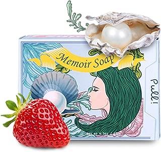 strawberry whitening soap