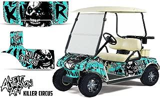 Savage Kits Vinyl Graphic Decal Kit for Club Car Precedent Golf Cart 2004-2013 - Killer Circus Teal