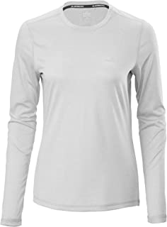Kathmandu Accion Women's driMOTION Long Sleeve T-Shirt Mid Grey Marle 10