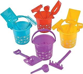 Fun Express - Summer Print Beach Play Sets (4pc Set/dz for Summer - Toys - Active Play - Beach Toys - Summer - 12 Pieces