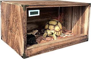 الضفادع الأفعى سلحفاة سحلية خزان خشبي الزواحف تررم فيفاريوم الضميمة التدفئة قفص تربية مربع الزواحف الشتاء اللوازم