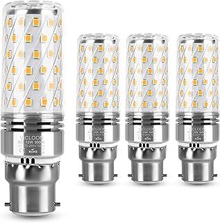 Vicloon Maíz Bombilla LED B22, B22 LED Maiz 12W Equivalente a Bombilla Halógena de 100W, Blanco Cálido 3000K, 1400LM, Haz de Ángulo 360°, Bombilla LED B22 Luz Calida, 230V, No Regulable, Paquete de 4