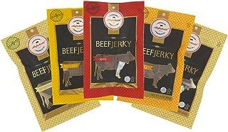 Aufschnitt Grass Fed Beef Jerky - Variety Pack - 5 pack (2 oz each) - Kosher, Glatt, Star-K Certification, Gluten Free, All Natural, No Nitrites