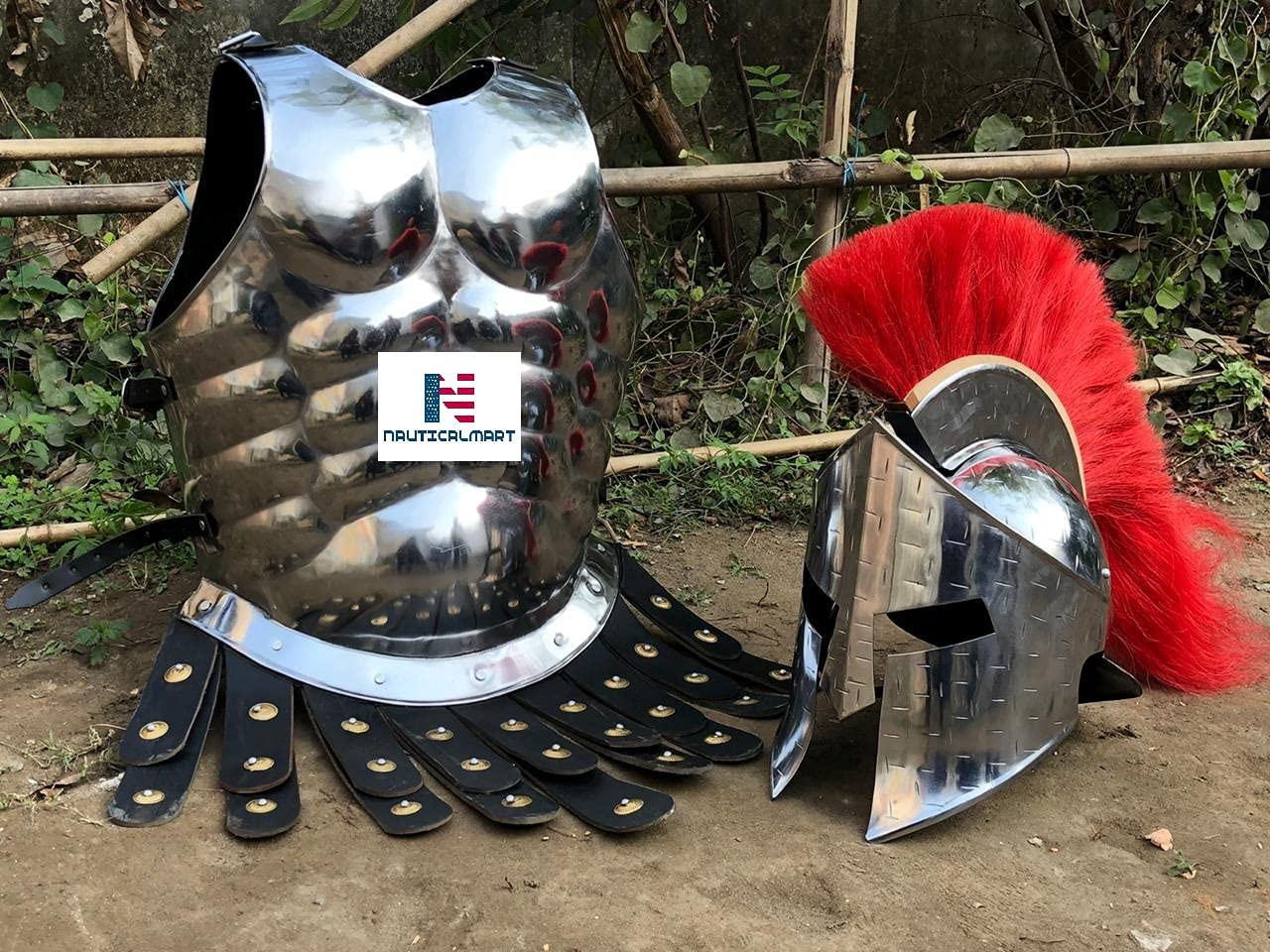 Nautical-Mart 300 Spartan Roman Breastplat Armor Cheap mail order specialty Max 47% OFF store Muscle Medieval