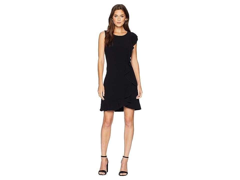 kensie Sleek Stretch Crepe Dress KS8K8276 (Black) Women