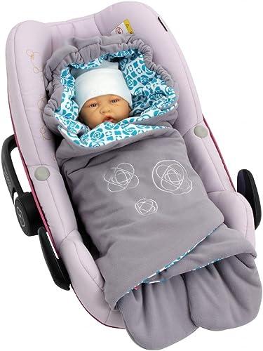 ByBoom® - Couverture enveloppante d'été à motif moderne, universelle pour coques bébé, sièges auto, par ex. Maxi-Cosi...