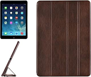 LFPING New for iPad Air/iPad 5 Crazy Horse Texture Horizontal Flip Leather Case with 4-Folding Holder (Color : Brown)