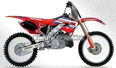 Kungfu Graphics Custom Decal Kit for Honda CR125 CR250 2000 2001, Black Red White,style 003