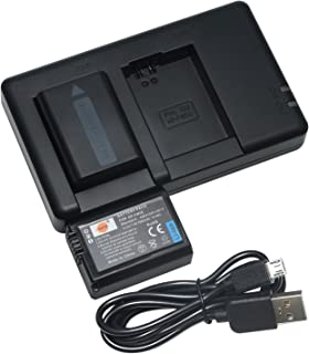 DSTE 2PCS NP-FW50(1950mAh/7.4V) Batería Cargador Compatible para Sony A6000A6300A6400A6500a6100NEX 3/5/7 SeriesSLT-A SeriesAlpha Series Digital Cámara