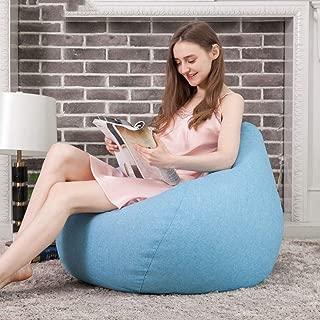 sofa Adult Beanbag  Filled Personalised Indoor Outdoor Bean Bag Chair Living Room Lazy Tatami 80cm 90cm lightblue