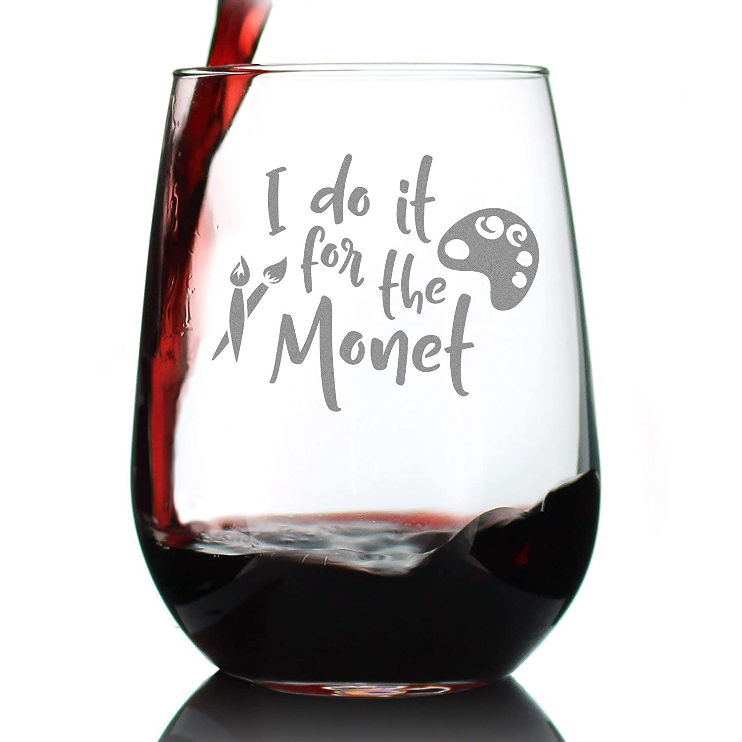 For the Monet – Stemless Wine Glass Gifts - Funny T Spring new work one Finally resale start after another for Art