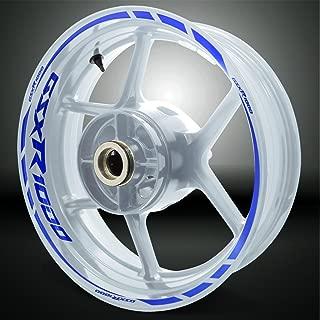 Reflective Blue Motorcycle Rim Wheel Decal Accessory Sticker For Suzuki GSXR 1000