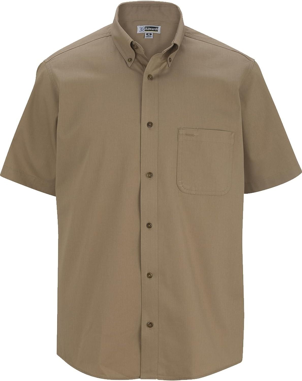 Big and Tall Short Sleeved Twill Shirt LT-6XT Khaki