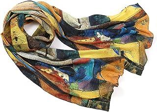 prettystern Donna Seta 160 cm Artwork Bordi Arrotolate a Mano Pittore Wassily Kandinsky