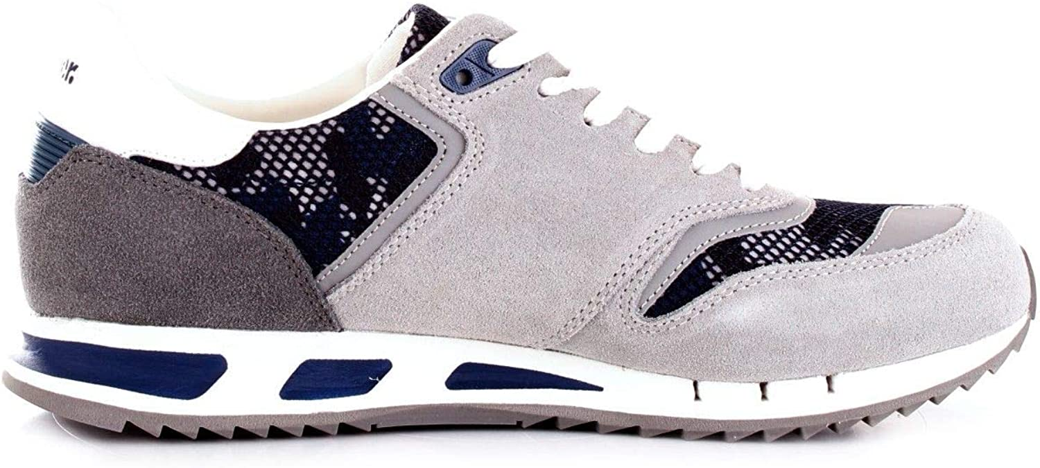 3aaf17690 blueer Men's Men's Men's 9SMEMPHIS06CAMGREY Grey Fabric Sneakers 3c9564