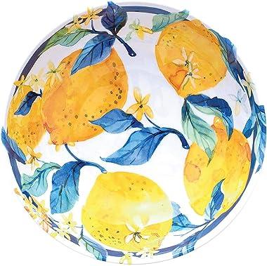 18-Piece Melamine Dinnerware Set (Fresh Lemons)