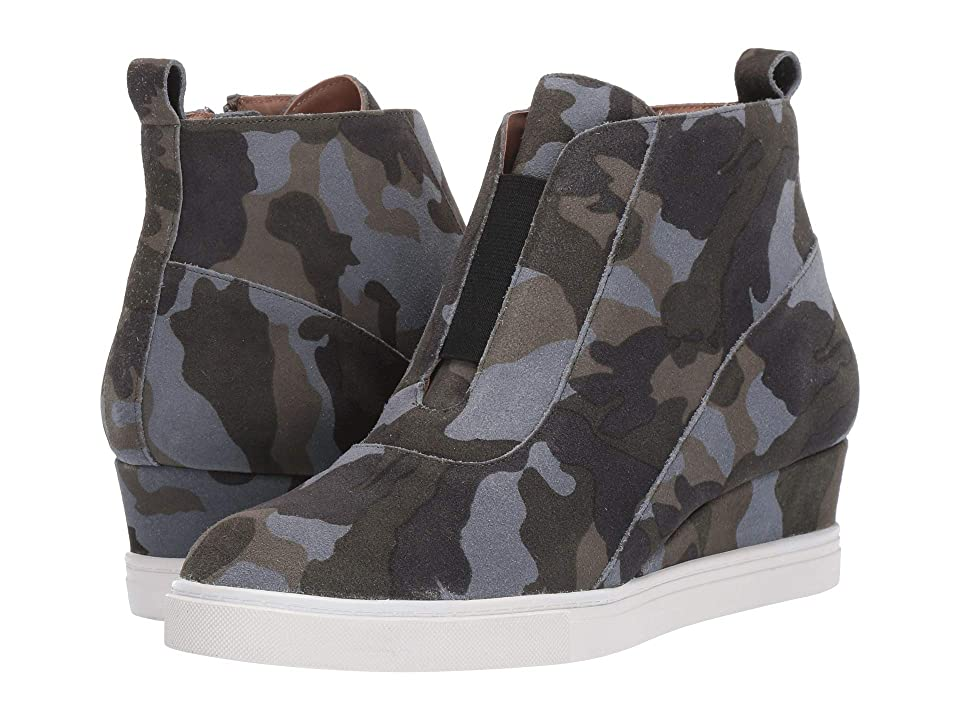 d78d4ed88df6 LINEA Paolo Anna Wedge Sneaker (Dark Green Light Grey Suede) Women s Wedge  Shoes