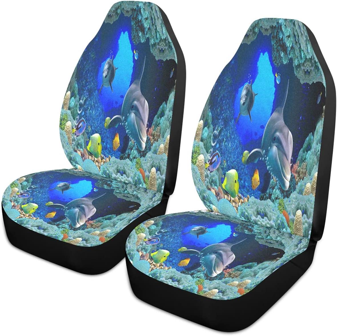 Oarencol Underwater Shark Car Seat Animal Fish Sea Covers Univer Max 51% OFF Ranking TOP14
