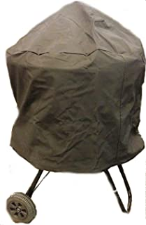 """RCK Sales Premium Vinyl Black Round Fire Pit Storage Cover for 28"""" to 30"""" Pits in 3/4 Length Cover"""