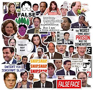 The Office Stickers Pack of 50 Stickers - The Office Stickers for Laptops, The Office Laptop Stickers, Funny Stickers for Laptops, Computers, Hydro Flasks (The Office)