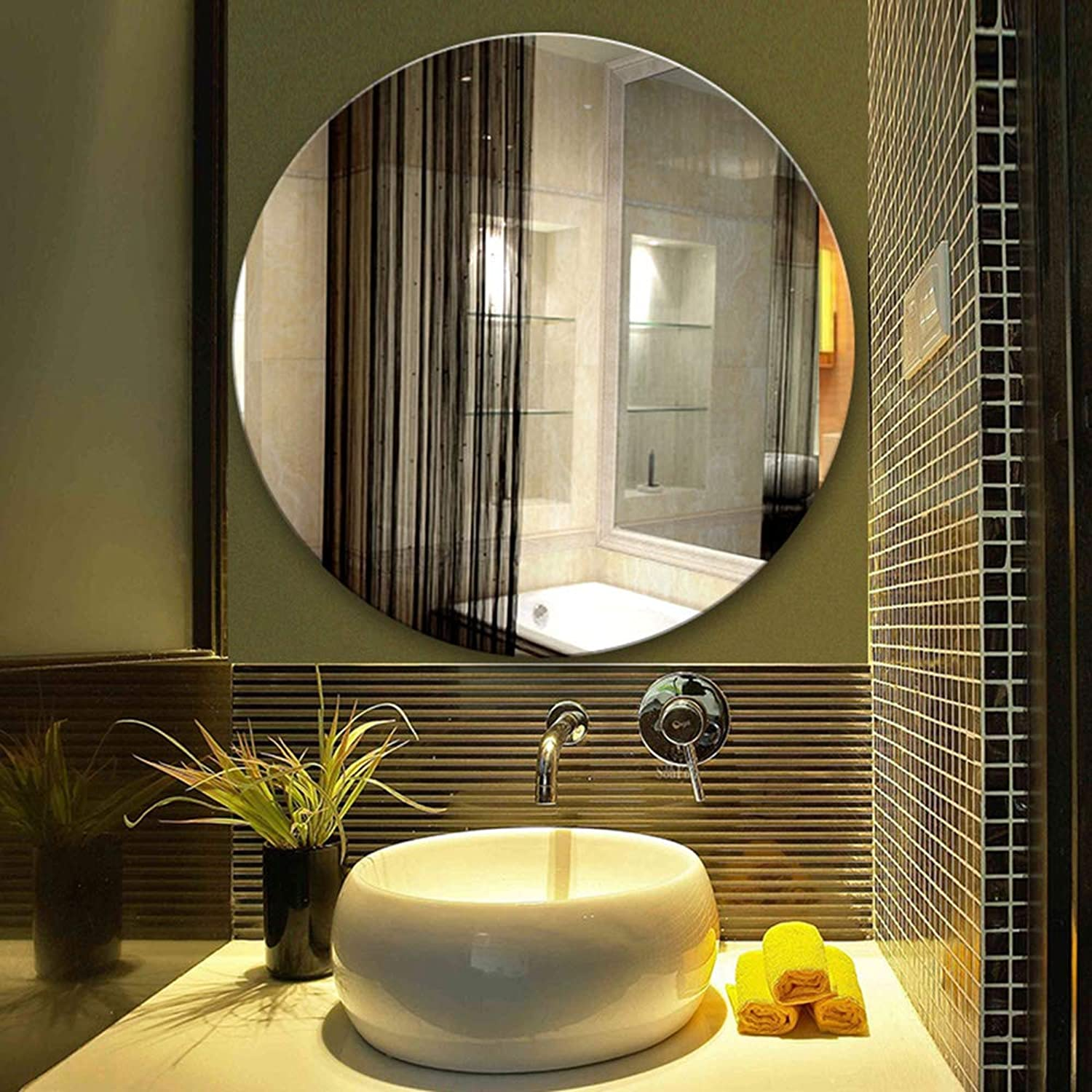 Bathroom mirror Wall Mount Mirror - no Frame, Suitable for Bathroom and Different Rooms  Multiple Sizes