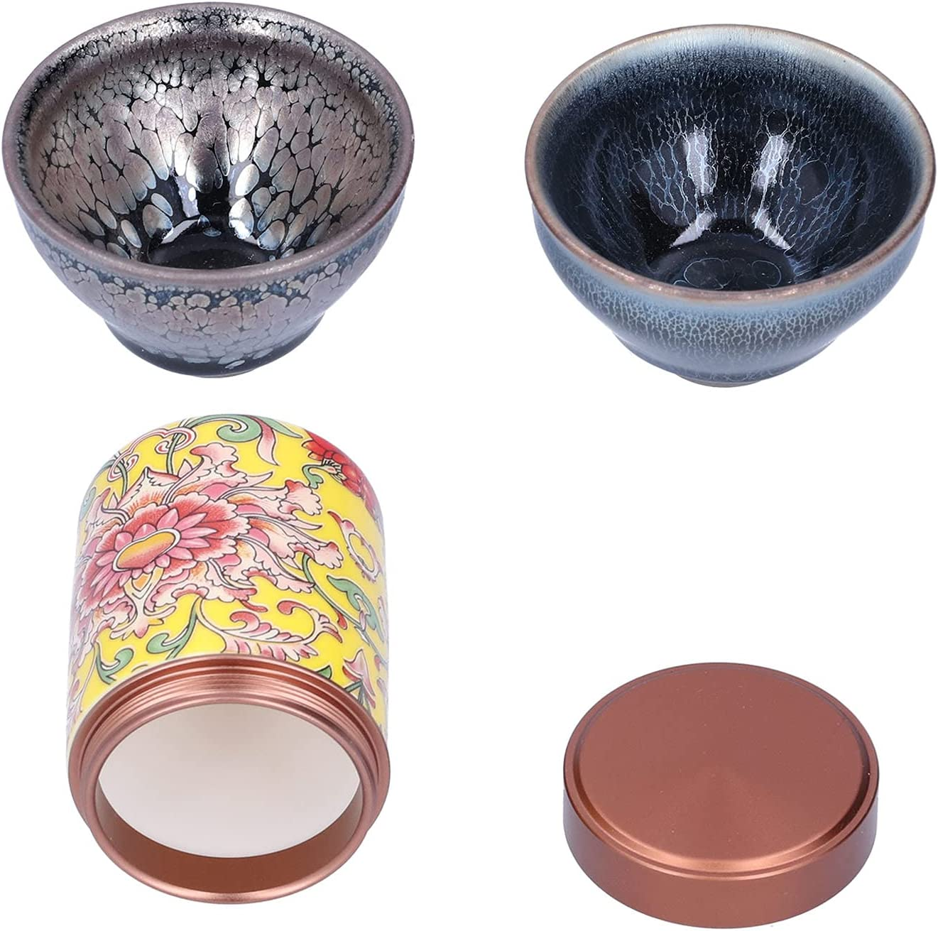 Tea Set -Tea Cup and Canister Home Gi Kit Rare Max 53% OFF for Office