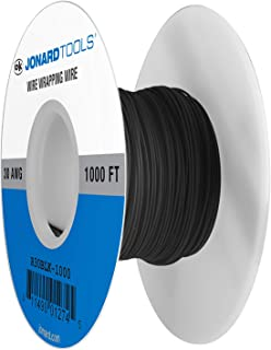 Jonard Tools R30BLK-1000 Black Insulated Kynar Copper Wire Roll, 30 AWG, 1000 ft Length