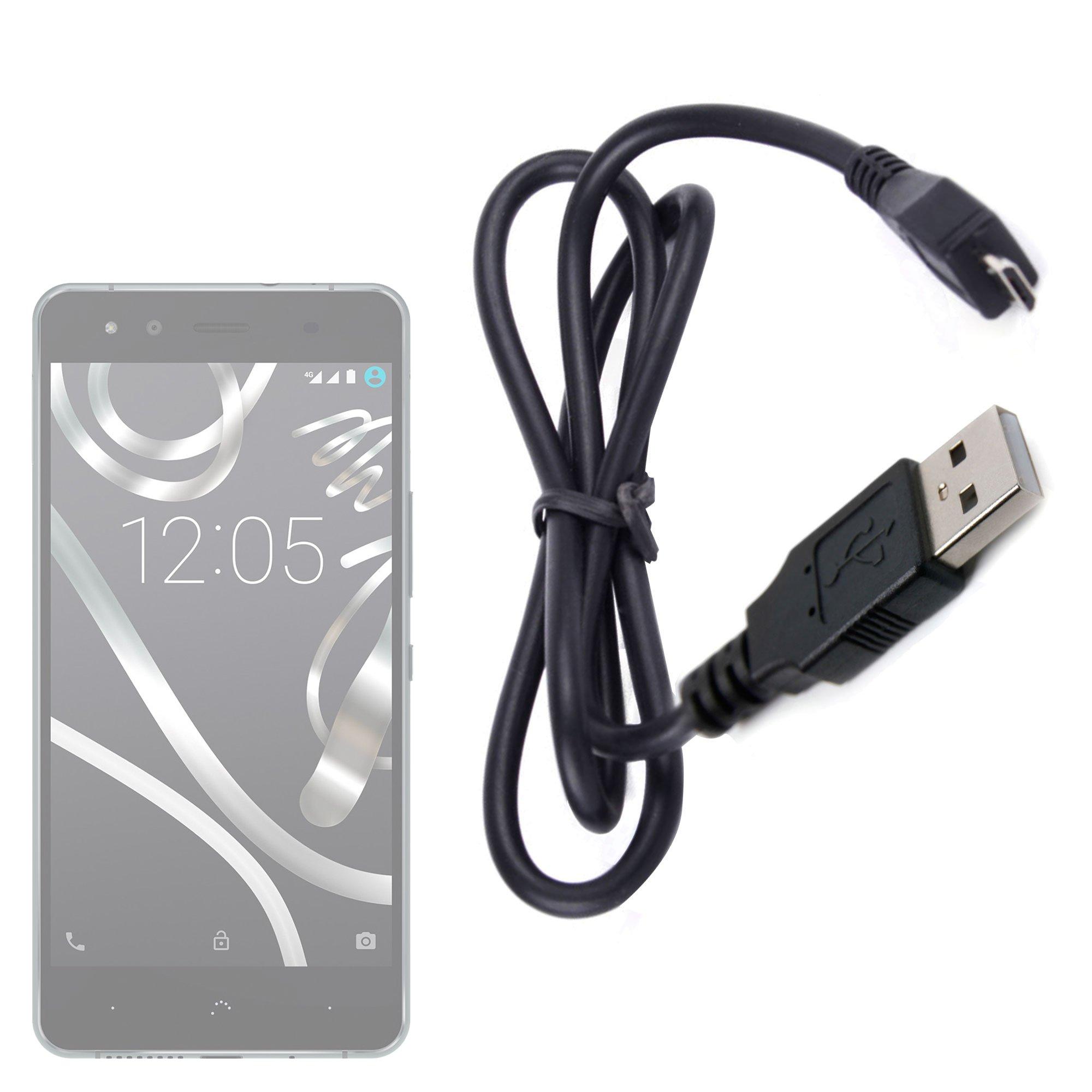 DURAGADGET Práctico Cable Micro USB De Sincronización De Datos para Smartphone BQ Aquaris U Lite/U Plus/U / X5 Plus: Amazon.es: Electrónica