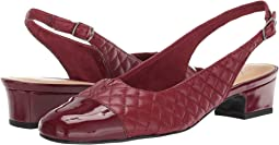 Dark Red Soft Quilted Leather/Patent