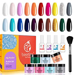 Beetles Dip Powder Nail Kit Starter, 20 Colors