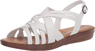 Easy Street womens Sandal,White,5.5 M US