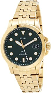 Fossil Fb - 01 Women's Green Dial Stainless Steel Analog Watch - ES4746