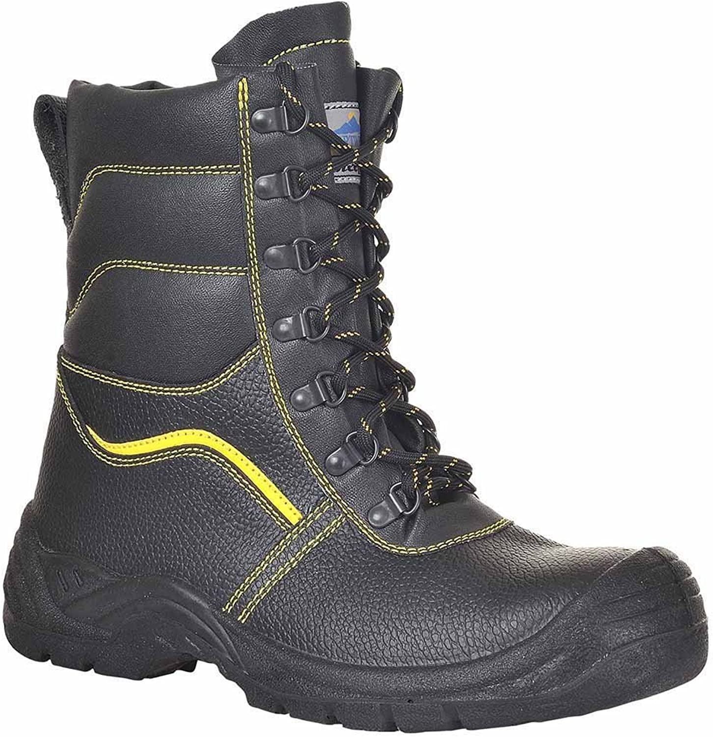 Portwest FW05 Regular SteeLite Synthetic Fur Lined Predector Safety Boot S3 Black  Size 43 & 9