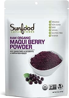 Sunfood Superfoods Maqui Berry Powder. Raw Organic. 8 oz Bag