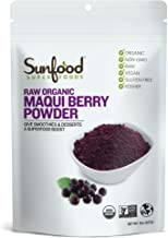 Sunfood Superfoods Maqui Berry Powder. 100% Raw Organic Freeze Dried Maqui Berry. 10x More Antioxidant Power Than Acai. Gr...