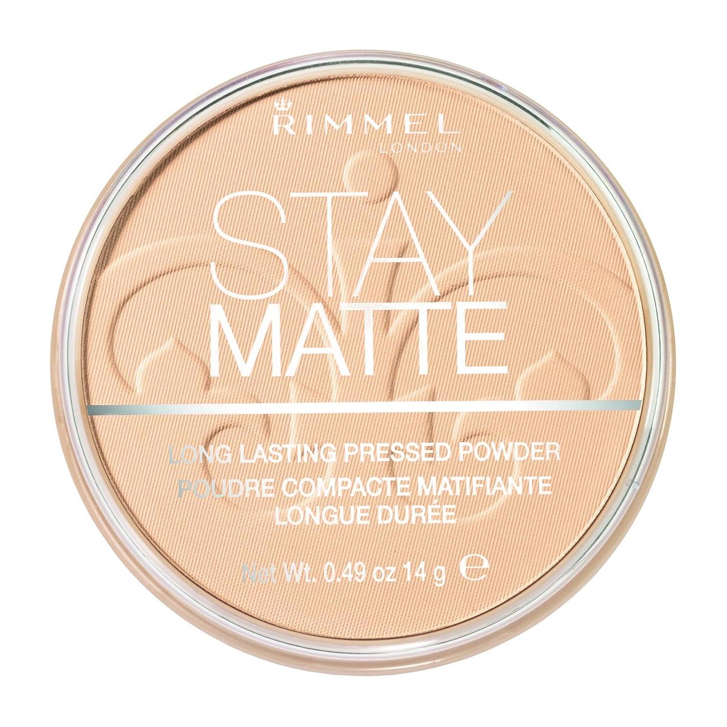 写真を撮る派手洞窟RIMMEL LONDON Stay Matte Long Lasting Pressed Powder - Transparent (並行輸入品)
