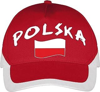 Supportershop Cap Polen Voetbal, rood, eenheidsmaat (maat fabrikant: TU)