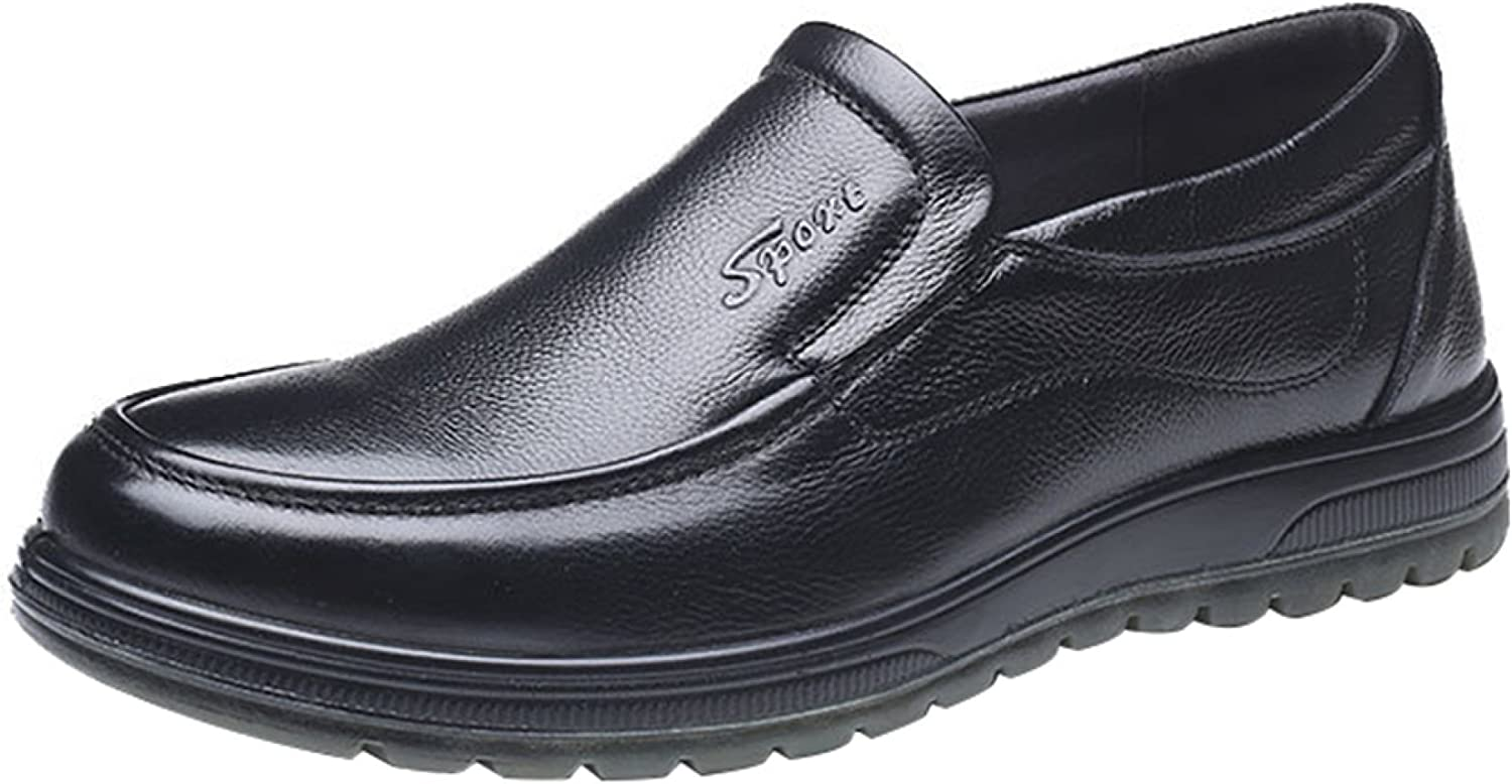 Men's Leather-Lined Lightweight Formal Business Work Comfort Slip-on Or Touch Fastening shoes