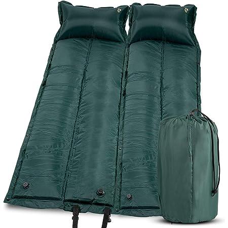 Colchoneta de camping de tamaño doble para niños, ligera, autoinflable, colchón, cama de camping, ligera, cómoda, 1,2 pulgadas de grosor, revestimiento repelente al agua