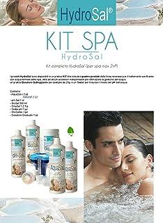HYDROSAL Juego de productos para spa de hidromasaje y piscina a base de agua termal y sin cloro Kit Spa Natural – Ideal para spa teuco, jacuzzi,Dimhora,Intex,Bestway, etc.