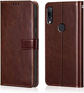 WOW Imagine Redmi Note 7 / 7S / Note 7 Pro Flip Case | Premium Leather Finish | Inside TPU with Card Pockets | Wallet Stand | Shock Proof | Magnetic Closure | 360 Degree Complete Protection Flip Cover Designed for Xiaomi Mi Redmi Note 7 / 7S / Note 7 Pro - Chestnut Brown