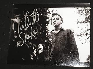 Nick Castle Signed Michael Myers 8x10 Photo Halloween The Shape B