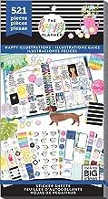 me & my BIG ideas PPSV-116-3048 The Planner Sticker Value Pack-Happy Illustrations, 521/Pkg, Multi