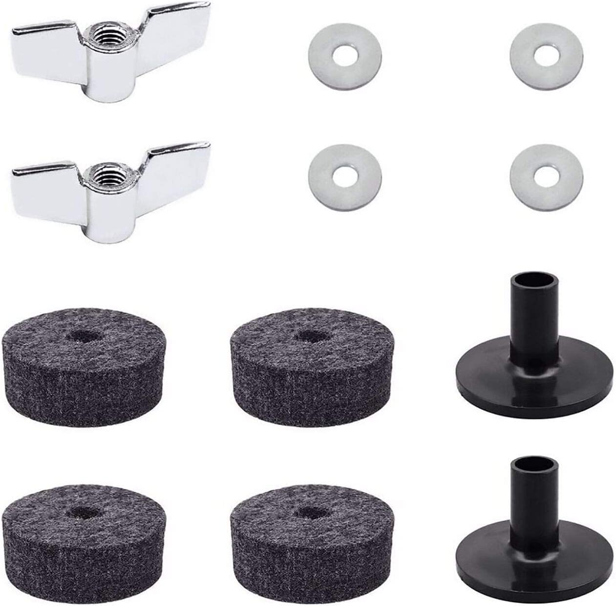 Cymbal Replacement Accessories 12pcs 4 New color C Felts Attention brand Clutch 2 Hi-Hat