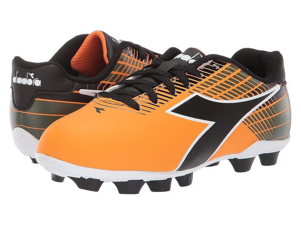 Diadora Kids Ladro MD JR Soccer (Toddler/Little Kid/Big Kid) (Orange/Black) Kids Shoes